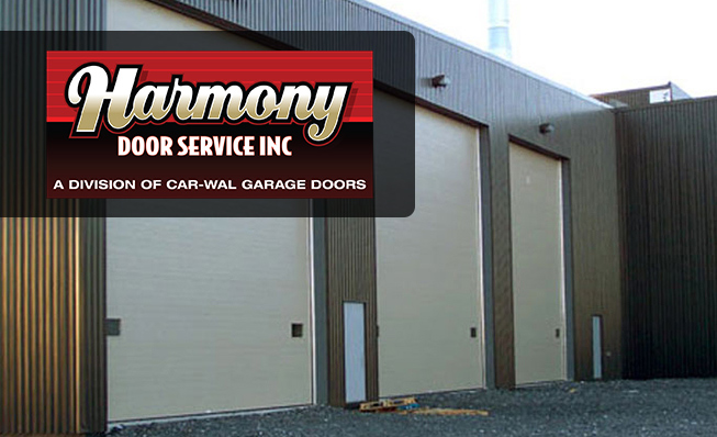 Commercial Garage Doors with Harmony Door Service Ltd. logo