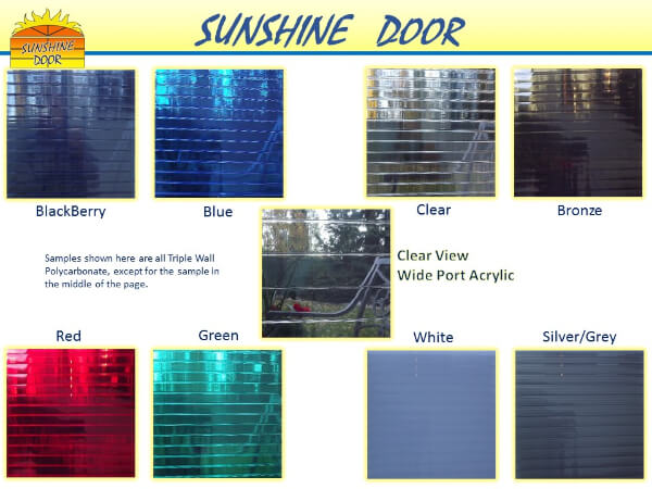 Sunshine Door colors