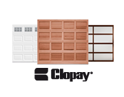 Residential garage doors offered by Clopay