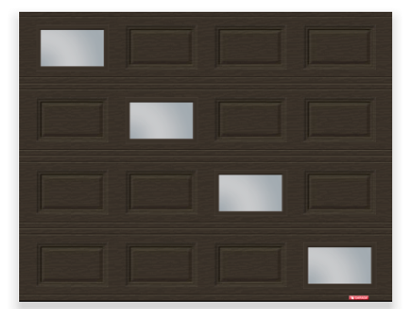 Standard+ Classic CC, 9' x 7', Moka Brown, Custom window layout with Clear windows