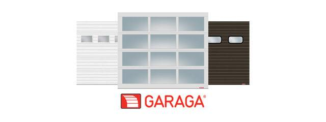 Commercial doors G-5000 and G-4400 thumbnail with Garaga's logo
