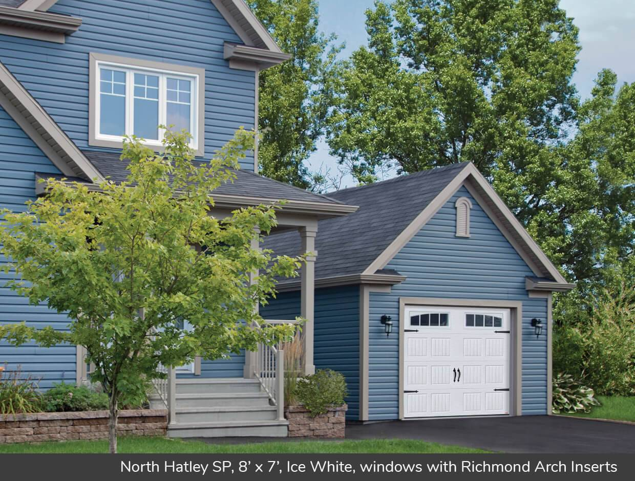 North Hatley SP, 8' x 7', Ice White, windows with Richmond Arch Inserts